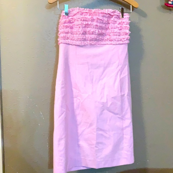 Lily Pulitzer striped pink and white dress size 6